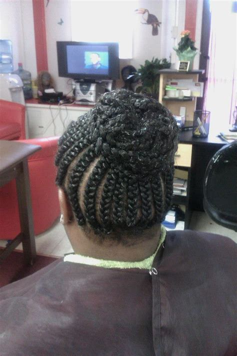 scalp braids in a high bun ask a baltimore stylist three easy braided hairstyles