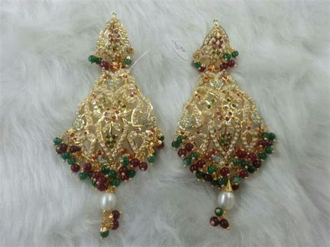 jewelry design of punjab gold plated women earrings in amritsar punjab india
