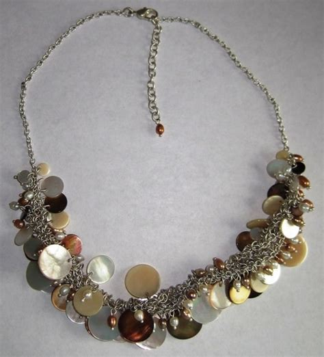 Fx Jewellery Eng Silver Shell Pearl loft silver shell pearl necklace new