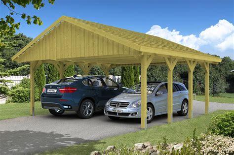 carport pfostenanker holz carport skanholz 171 sauerland doppelcarport mit
