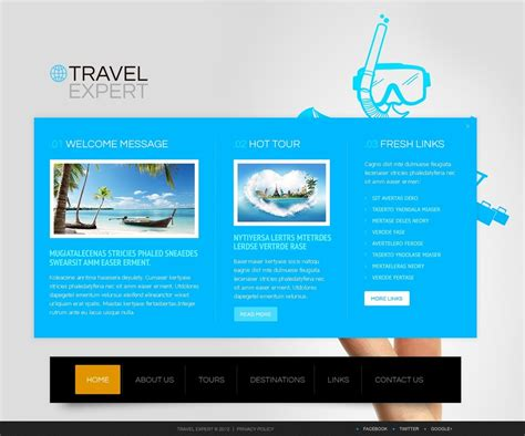 website templates for travel agency travel agency website template 41651