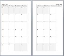 A5 Calendar Template by My All In One Place Free Monthly Filofax Diary