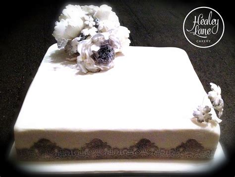 New Single Layer Wedding Cake Whats New In Healey Lane Cakery Homemade Cakes In Healey