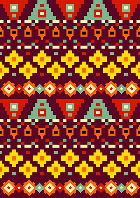 aztec template aztec patterns on behance tramas behance