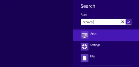 Ip Address Lookup Windows 8 How To Assign Static Ip Address In Windows 8