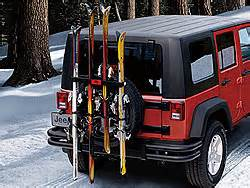 how to carry skis or snowboards on a jeep wrangler
