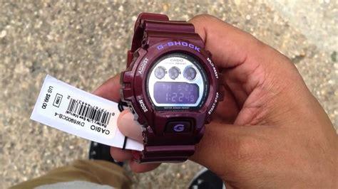 maroon g g shock watch dw6900cb 4 burgundy maroon youtube