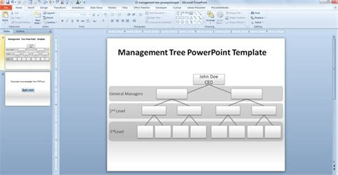 management tree template  powerpoint