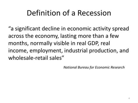 receding definition ppt developments in the global economy powerpoint