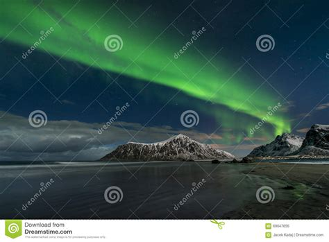 norway march northern lights aurora borealis northern lights stock photo image 69047656