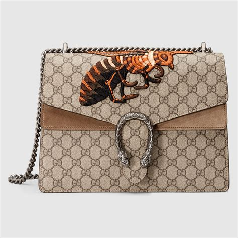 Gucci Bee Top Handle 2017 Medium Size Brown Hw 1623 Vncwfo gucci dionysus bag reference guide spotted fashion