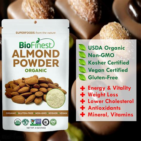 Almond Powder Organic by Almond Powder 100 Freeze Dried Antioxidants Superfood