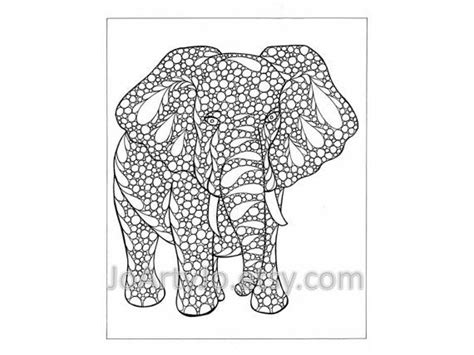animal zendoodle coloring pages coloring page elephant zentangle inspired printable
