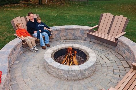 6 Quot Rustic Double Face Wall And Fire Pit Rustic Cobble Ep Henry Pit