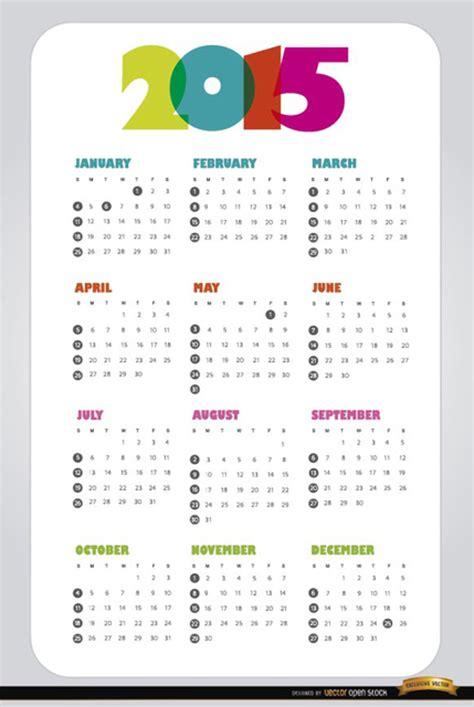 Design Vorlage 2015 Kalender 2015 Vektor Design Vorlage Der
