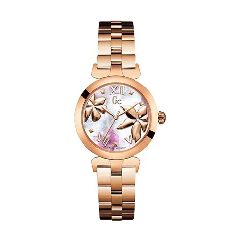 Jam Tangan Gc Doublechain Rosegold jual guess collection gc ladybelle y22003l3 stainless jam