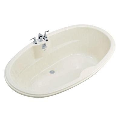 kohler bathtubs home depot kohler 6 ft center drain oval bathtub in white k 1149 0