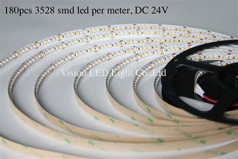 Lu Led Per Meter 5m a roll a lot led 3528 light 180pcs led per meter 24v ww 3000 3500k pw 4000 4500k