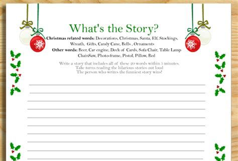 printable christmas games online what s the story free printable christmas game