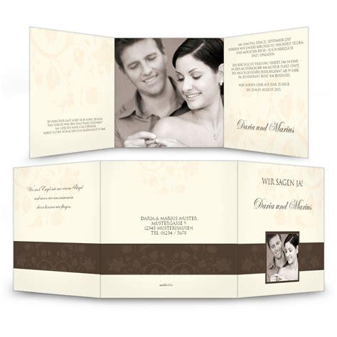 Adressaufkleber Creme by Elegante Hochzeitseinladung In Creme Und Dunkelbraun
