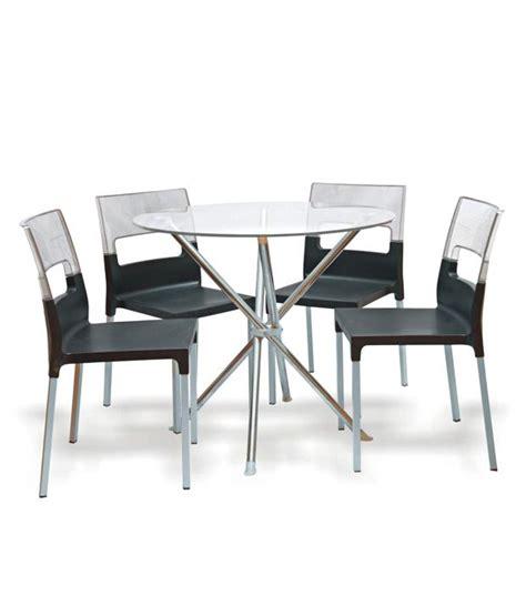 supreme chair set of 6 black with light black
