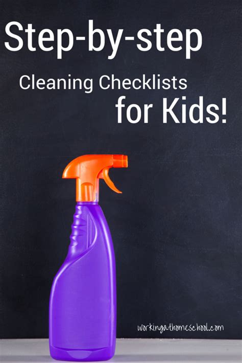 How To Clean Room Step By Step by Clean Room Checklists For Working At Homeschool