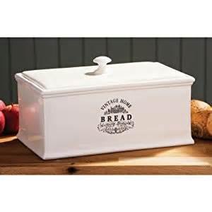 Retro Canisters Kitchen cream ceramic bread bin vintage home stylish bread storage