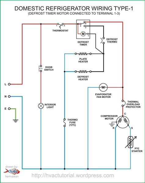 refrigeration compressor three phase diagram wiring