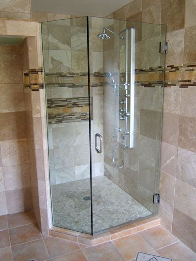 angled shower door neo angle frameless shower doors