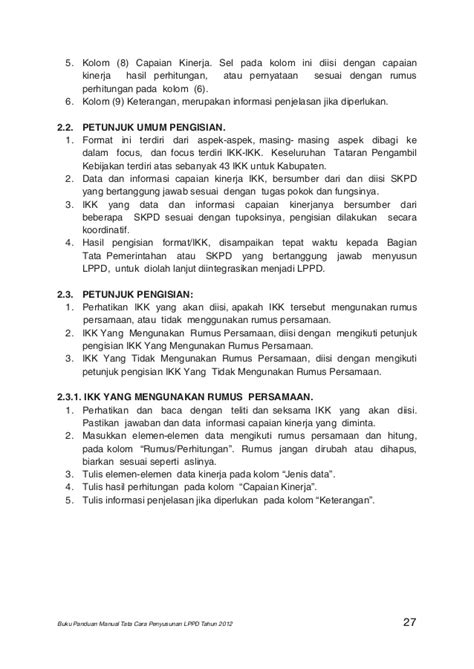 format buku vot manual buku panduan manual tata cara lppd 2012