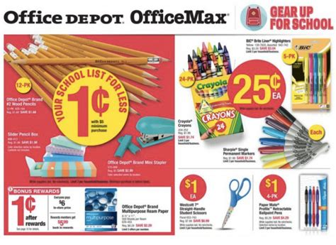 office depot coupons school supplies office depot office max get 54 56 worth of school