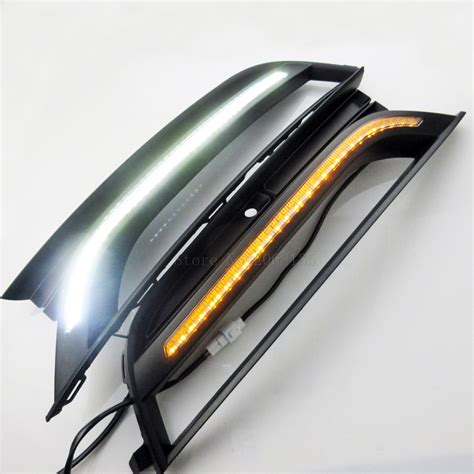 2pcs lot new car styling daytime running light for vw