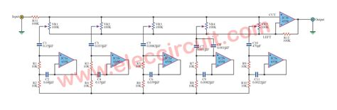 4558 tone circuit diagram 5 band equalizer tone with 4558 electronic circuit