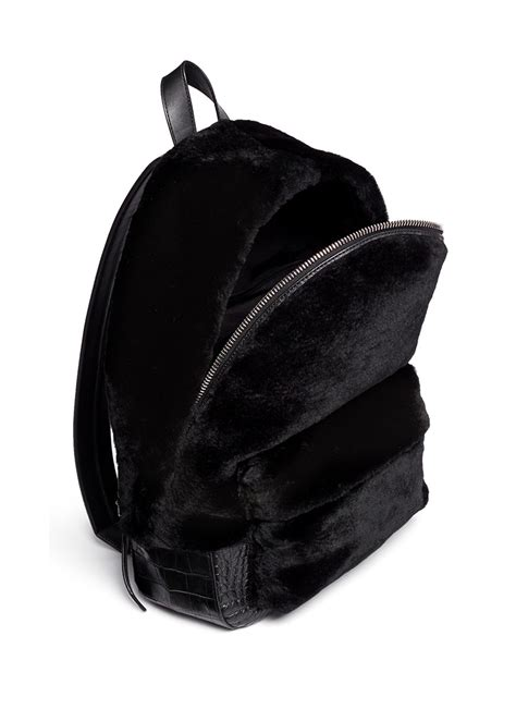 Faux Leather Plain Backpack plain leather backpack backpack tools