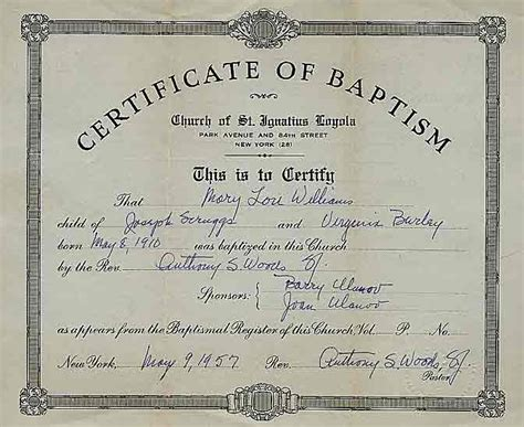 baptismal catholic certificate new calendar template site