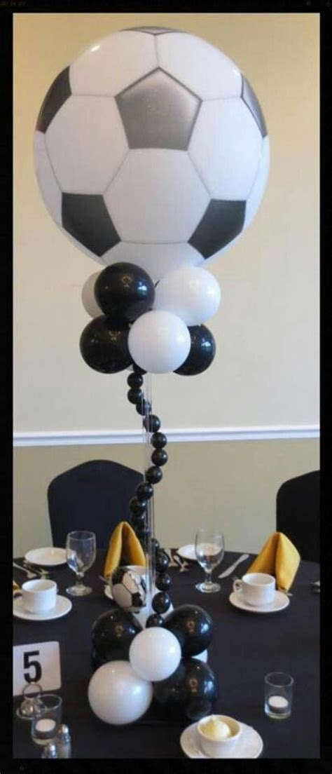 soccer table centre piece ideas de decoraciones con