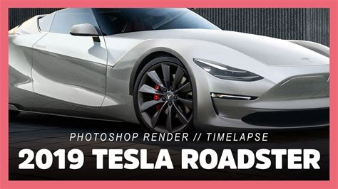 tesla roadster 2019 2019 tesla roadster p100d model 3 photoshop render