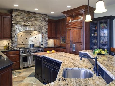 stone kitchen ideas my home design old world kitchen design with neutral color