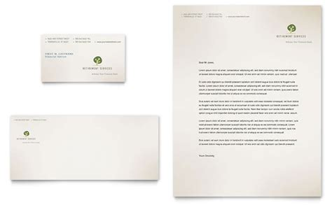 Finance Company Letterhead Retirement Investment Services Business Card Letterhead