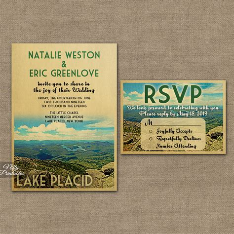 Wedding Invitations Lake Theme by Lake Placid Wedding Invitations Vtw Nifty Printables
