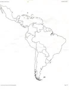 Latin America Blank Map by Map Of Latin America Colouring Pages