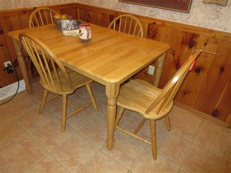 butcher block table and chairs butcher block dining table w leaf 4 chairs