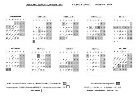 calendario curso 2016 2017 baleares c p buztintxuri calendario curso escolar