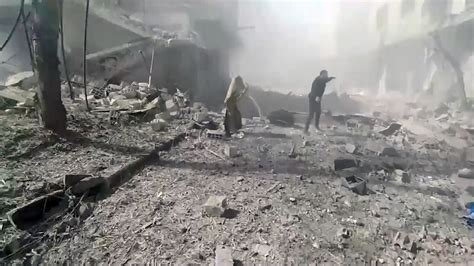 Syria Syari List ghouta residents being burned out of already hit homes