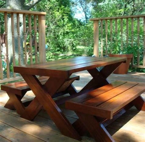 ana white picnic table bench ana white build a build a modern kid s picnic table or