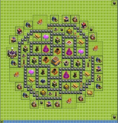 coc defense layout th8 epic th8 defense best plan base coc defense plan farming