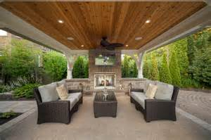 Outdoor Gazebo Plans With Fireplace - riverbank way project transitional patio toronto by cedar springs landscape group