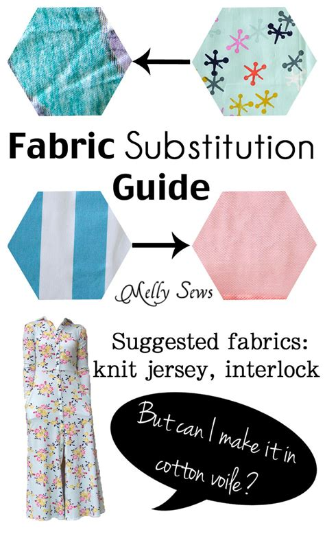 Fabric Substitutions Can I Sew A Pattern For Knit With | fabric substitutions can i sew a pattern for knit with