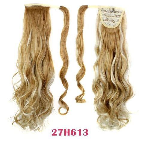 gfabke hair pieces in bsrrel curl 22 quot synthetic hair long wavy clip in ribbon ponytail hair