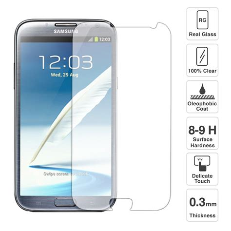 screen protector galaxy note 2 premium quality tempered glass screen protector for